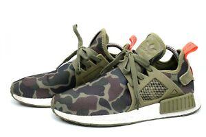 Adidas Mens NMD XR1 BA7232 Green Duck Camo Green Running Shoes Lace up Sz 9.5