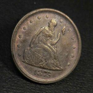 1875 S Twenty Cent Piece VF