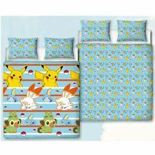 Pokemon Jump Double Duvet Cover and Pillowcase Set Children Reversible Pikachu