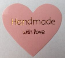 X64 Handmade With Love - Heart Label Seal Stickers - Craft, Weddings, Hand  made