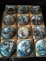 Imperial Jingdezhen Porcelain Collector Plates Beauties of The Red Mansion 1-12