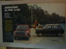 Articolo AUTOBIANCHI A 112 E - 112 ABARTH  - FULVIA ZAGATO -- 1971