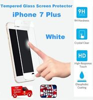 3D Rounded Shatter Proof Tempered Glass Screen Protector For iPhone 7 PLUS WHITE