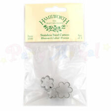 HAMILWORTH Sugarcraft Metal Blossom 6 Lobed / Freesia Cutter set of 3