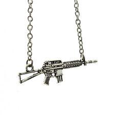 HALSKETTE Kalaschnikow Maschinengewehr silber Waffe Gun Anhänger Kette NEU OVP