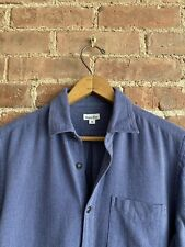 Steven Alan Men's Shirt, Cotton Pique Size Small Blue