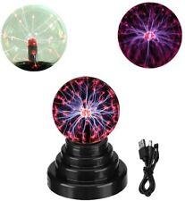 Mini Plasma Ball Night Light Kids Globe Lamp Touch Sensitive Battery USB Powered