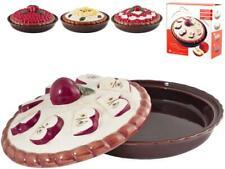 Home Tortiera ceramica con Coperchio Decorazione Ass 26 Pasticceria