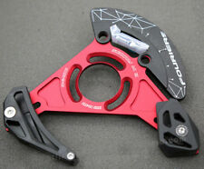 MTB Enduro Downhill Chain Guide Bash Guard Retention Device 32- 38T Red Fouriers