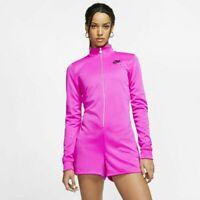 Nike Women's Air Zip Up Long Sleeve Romper Pink CJ3103-601 Multiple Sizes