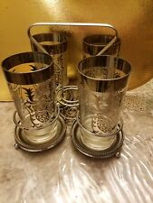 Vintage Drinking Glasses With Coasters - Roman