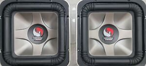"""Pair Kicker S10L7 Dual 4 Ohm 10"""" Solo Baric Subwoofers Vintage Old School"""