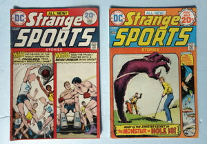 Strange Sports Vol.1 No. 4 & No. 6 1974 DC Comic Books