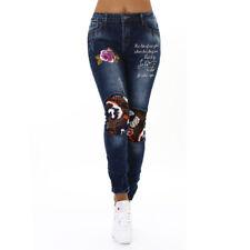 Skinny Jeans Hose Jeans Hose look usado con bordado