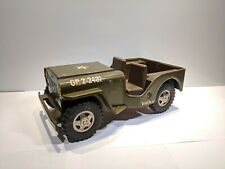 "11"" Vintage Tonka Pressed Steel Army Jeep GR 2-2431"