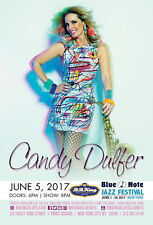 CANDY DULFER 2017 NEW YORK CITY CONCERT TOUR POSTER-Smooth / Nu Jazz, Funk Music