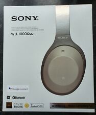 Sony WH-1000XM2 Headphones, Gold, Noise Cancelling, Bluetooth, Touch Control