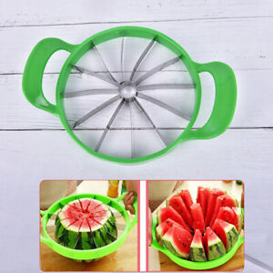 Watermelon Cantaloupe Melon Cutter Stainless Steel Kitchen Fruit Divider UTJ0