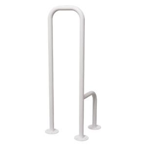 WC Stützgriff für barrierefreies Bad zur Bodenmontage links 80cm hoch weiß