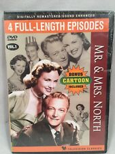 Mr. and Mrs. North DVD 4 Classic Full Length TV Episodes