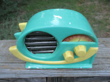 Vintage 1987 Elvis Presley's Hound Dog Music Box Ceramic Radio Standing Ovations
