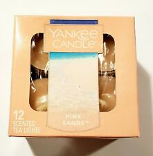Yankee Candle PINK SANDS Box of 12 Scented Tealights Tea Light
