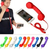 3.5mm Retro Classic Cell Phone Handset Receiver Telephone For Android IPhone