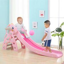 Toddler Indoor/Outdoor playground Set Slide Set Climbing Backyard Stair+Baskets!