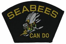 Navy Seabees Can Do 5 Inch Gold Silver Black Cap Hat Embroidered Patch F2d9i
