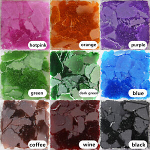 Transparent Ice Cracked Glass Mosaic Tiles DIY Crafts Broken Glass 150g/0.33lb