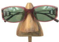 Vintage Salvatore Ferragamo 2572 Purple Silver Rectangle Sunglasses FRAMES ONLY