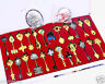 24Pcs/Set Fairy Tail Lucy Cosplay Keys Necklace + Pendant + Keychain in Box Gift