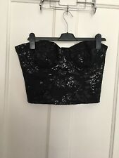 BNWT Size 12 Sequin Bustier Corset Lipsy RRP £42