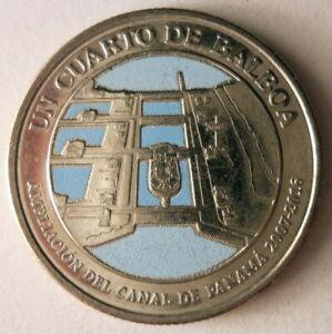 #3696 Panama 1//4 balboa 2016 The first transit of the Panama Canal 1914