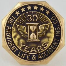 Vintage 10K Yellow Gold Provident Life & Accidental Life Ins. 30 YR Service Pin
