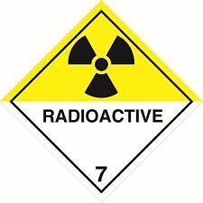 Health and Safety Hazard Sticker Radioactive 7 sticker white and yellow