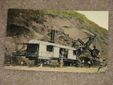 A 95 Ton Steam Shovel at Work in Panama Canal,  unused vintage card