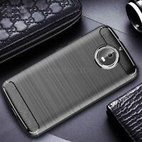 For Motorola Moto G5 Carbon Fibre Gel Case Cover Ultra Slim Shockproof
