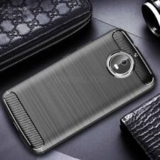 For Motorola Moto G5 Carbon Fibre Gel Case Cover Brushed Shockproof Hybrid