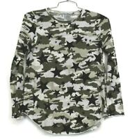 Chaser Womens Camo Long Sleeve Top Crew Neck Allover Camo Print Size Small