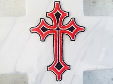 Cross Crucifix Religious Appliqué Embroidered Iron On Patches Patch