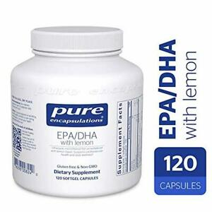 Pure Encapsulations - EPA/DHA with Lemon - Ultra-Pure, Molecularly Distilled Fis