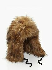 Kate Spade New York - Night Creature Raccoon Hat - Brindle - NEW WITH TAGS RARE