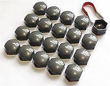17mm TECHNIK GREY Wheel Nut Covers with removal tool fits AUDI (ET)