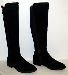 Marc Fisher Shiane Black Suede Tall Boots Women's Size 6.5 M EUC