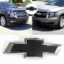 2015-2020 Chevrolet Front Black Chrome Bowtie Emblems fit Tahoe Suburban OEM