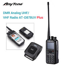 AnyTone AT-D878UV Plus GPS Dual Band DMR And Analog VHF UHF PTT Radio w/ Antenna
