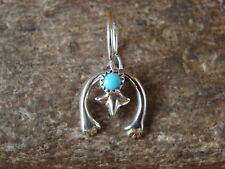 Navajo Indian Sterling Silver Cast Turquoise Naja Pendant - Lee Shorty