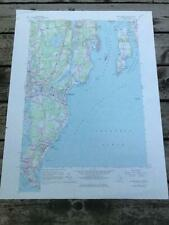 1957 Narragansett Pier Rhode Island USGS Geological Survey Topographic Topo Map