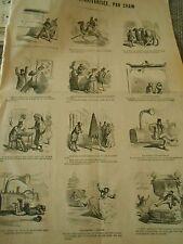 Caricature Vignettes Les Dentiers Pompier diamants de la couronne  1867